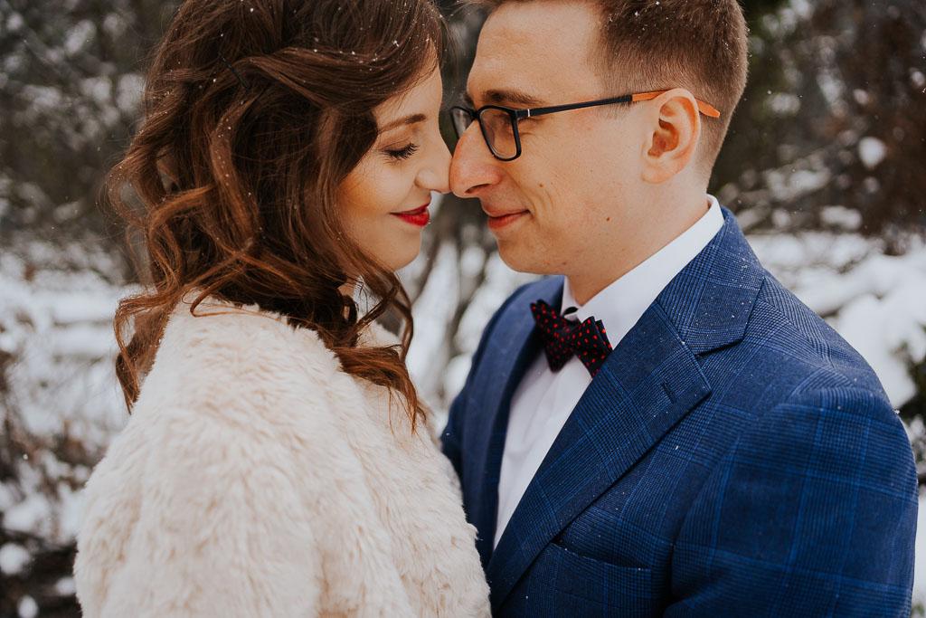 Zimowa sesja poślubna
